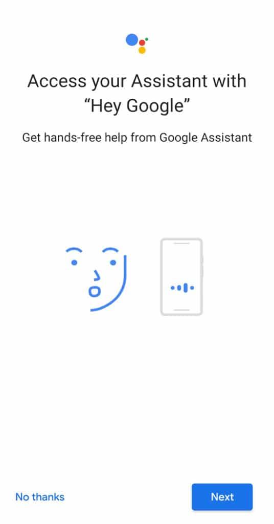 Google Assistant Setup